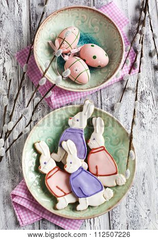 Easter Bunny Cookies. Shortbread Cookies.