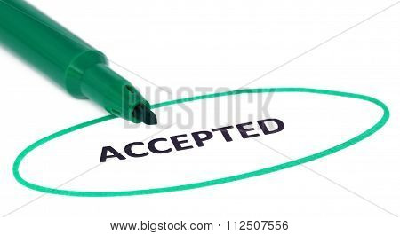 Accepted Written In A White Paper
