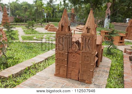 Model of the Great Church made from earthenware