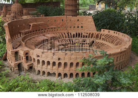 Model of Colosseum or Coliseum made from earthenware