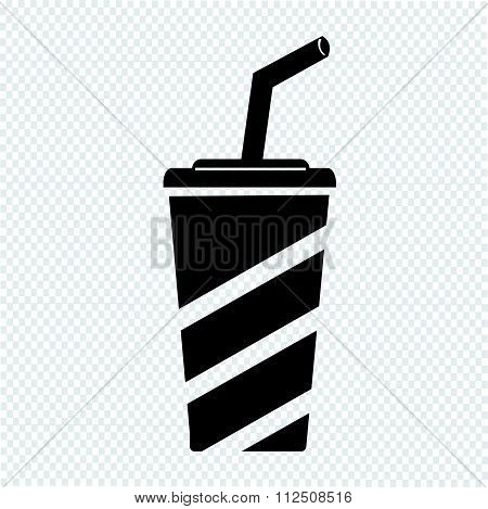 an images of illustration vector Soft drink icon