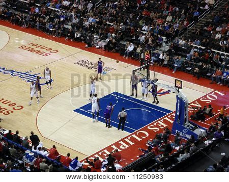 Clippers Player Shoot Free Throw From Line
