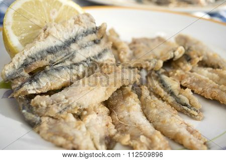 Fried Fillets Of Anchovies