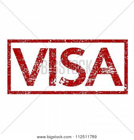 an images of illustration Stamp text VISA