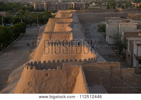 View Of Old City Khiva Walls