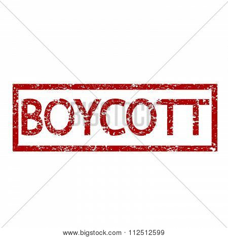 an images of illustration Stamp text BOYCOTT