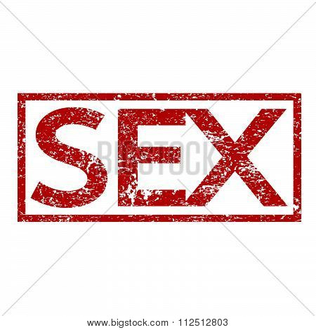an images of illustration Stamp text SEX