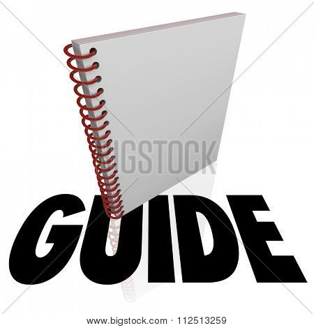 Guide word under an instruction manual for learning directions or steps for a job, task or project
