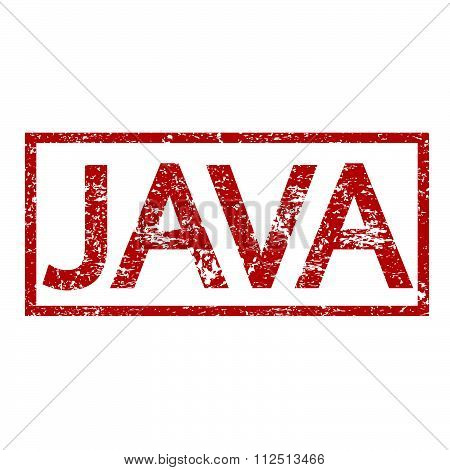 an images of illustration Stamp text JAVA