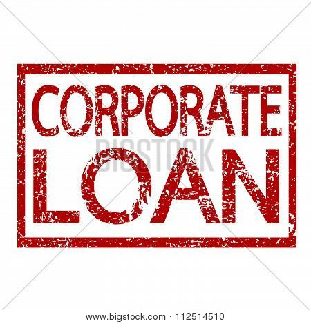 an images of illustration Stamp text CORPORATE LOAN