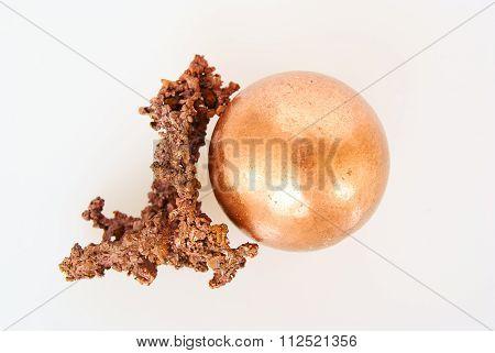 Native Copper And Cu Ball