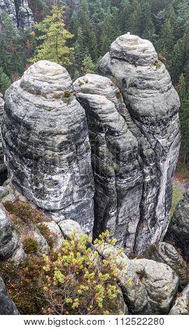 Rock Formation At Saxon Switzerland, Germany