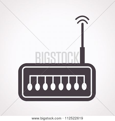 an images of illustration vector router icon