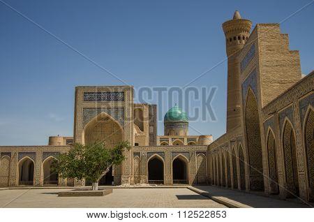 The Courtyard Of The Mosque Kalon, Buxoro
