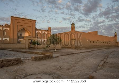 Evening Light On The Streets Of Khiva