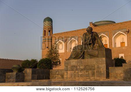 Statue Of Al-khwarizmi, Khiva, Uzbekistan