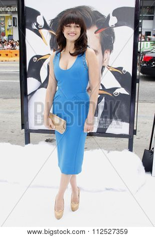 HOLLYWOOD, CALIFORNIA - June 12, 2011. Carla Gugino at the Los Angeles premiere of