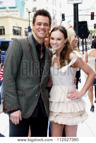 Jim Carrey and Madeline Carroll at the Los Angeles Premiere of