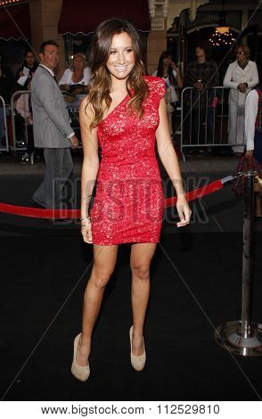 DISNEYLAND, CALIFORNIA - May 7, 2011. Ashley Tisdale at the World premiere of