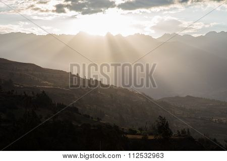 Sunrays on mountains