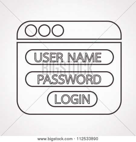 an images of Illustration Website login form icon