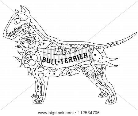 Outline Bull Terrier