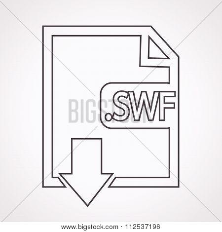Image File Type Format Swf Icon