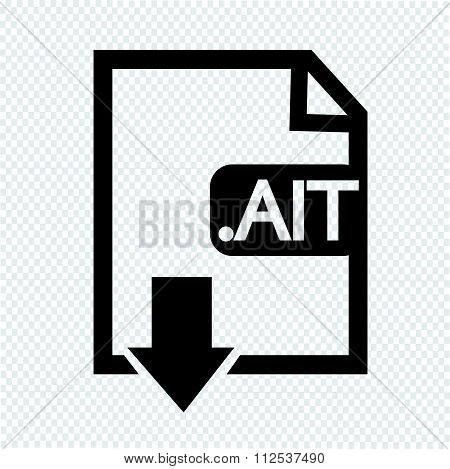 Image File Type Format Ait Icon