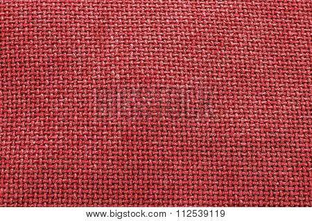 Red Woven Material / Textile / Fabric, Background Texture - Large File.