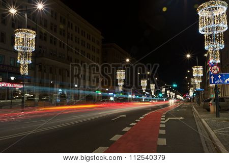 Swietokrzyska Street In Warsaw