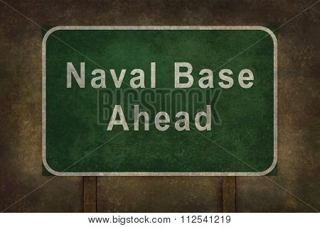 Naval Base roadside sign illustration