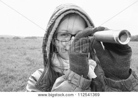 Woman With A Spy Glass
