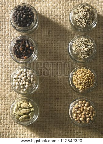 assort spices,cardamon,peppercorn, clove, black pepper,cumin,rosemary,fenugreek and coriander