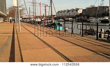 Bristol Harbourside in winter