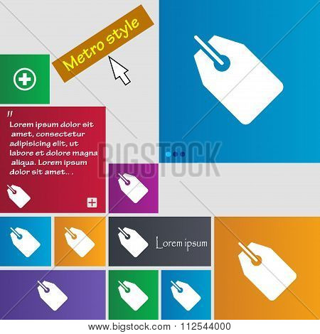 Web Stickers, Tags And Banners Icon Sign. Buttons. Modern Interface Website