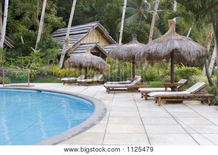 Poolside At A Tropical Resort