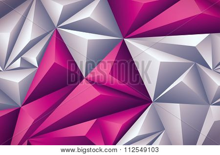 Vector polygon background. Vector file is layered and CMYK color mode. Global colors. Easy editable.