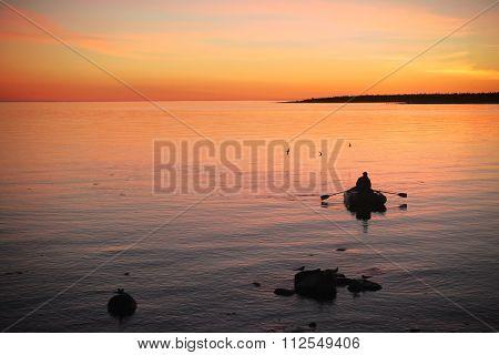 Fisherman And Birds