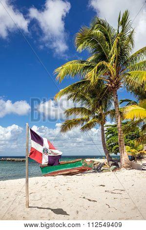 Caribbean Beach In Dominican Republic