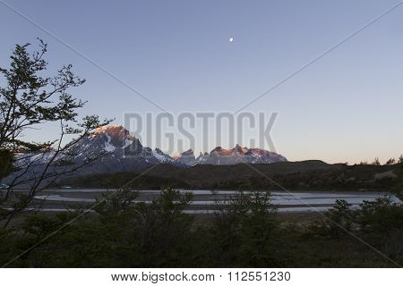 Moonlight Over Grey Lake