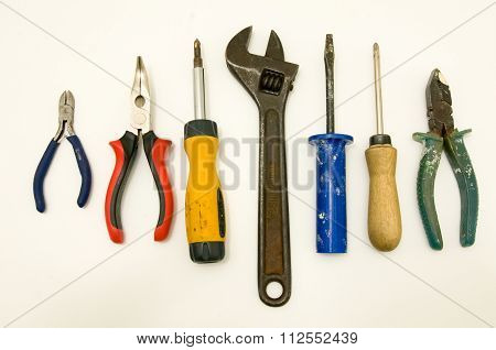 A Set Of Tools Isolated On White