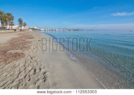 Empty Winter Beach Ibiza