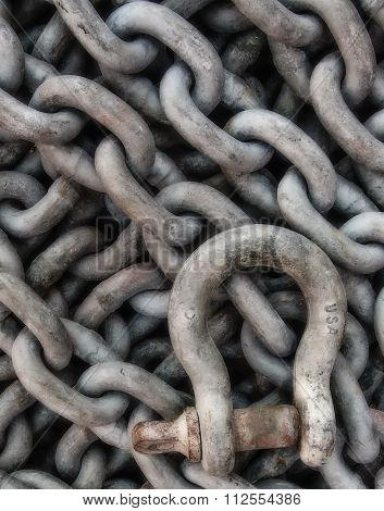 Galvanized Chain And Shackle