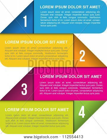 Abstract vector background with four numbered places for text