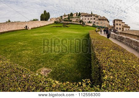 Panorama Of Assisi (italy)