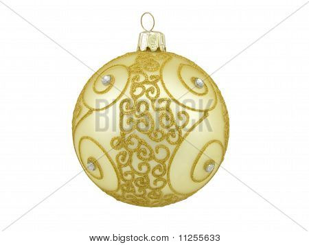 Christmas Ball With A Pattern