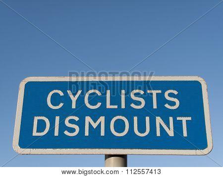 Cyclist Dismount
