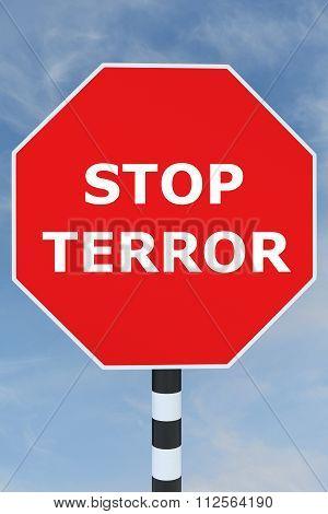 Stop Terror Concept