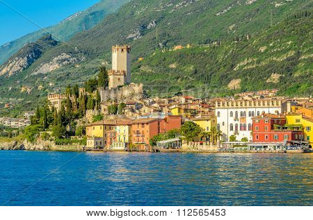 Beautiful peaceful lake Garda, Italy.