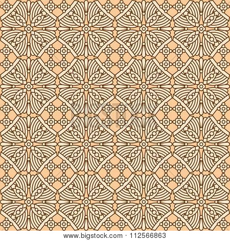 Seamless vintage flat colors pattern